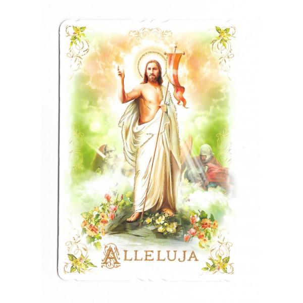 Lieldienu apsveikuma kartiņa  Allejuja ar konvertu