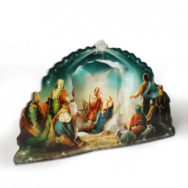 Saliekamā kartona Betlēme 3D 17 x 11 cm