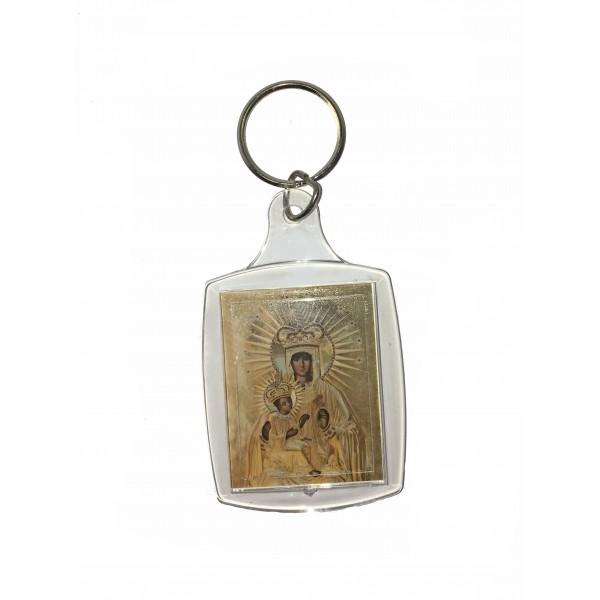 Atslēgu piekariņš Aglonas Brīnumdarītājās Dievmāte svētbildi