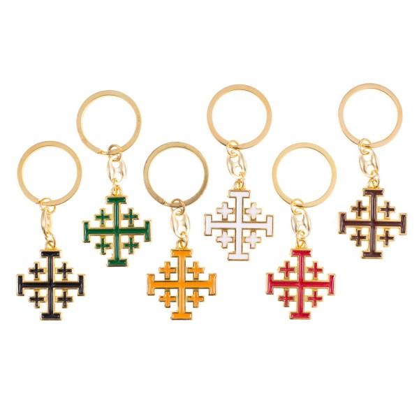 Atslēgu piekariņš Jeruzalemes krusts