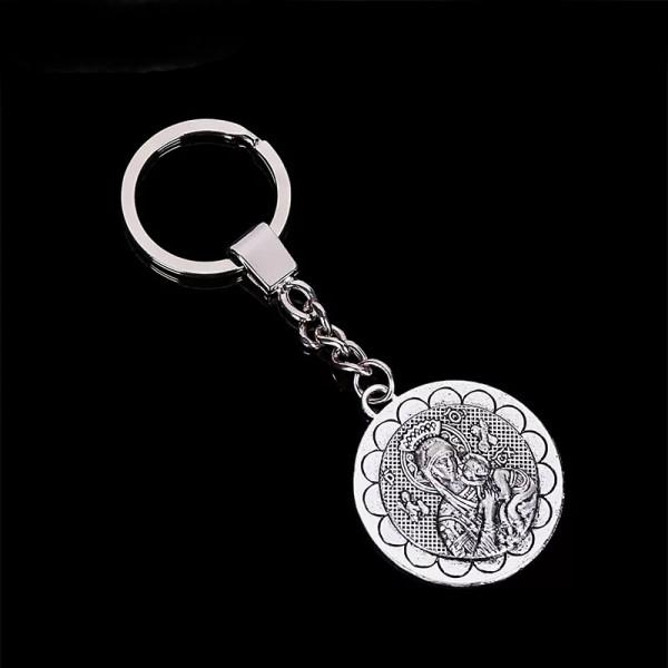 Atslēgu piekariņš ar Nemitīgās Palīdzības Dievmātes medaljonu