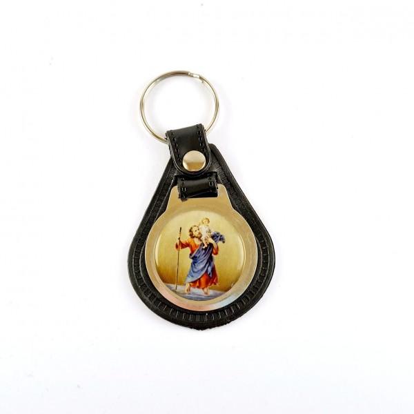 Atslēgu piekariņš ar Svētā Kristofera medaljonu