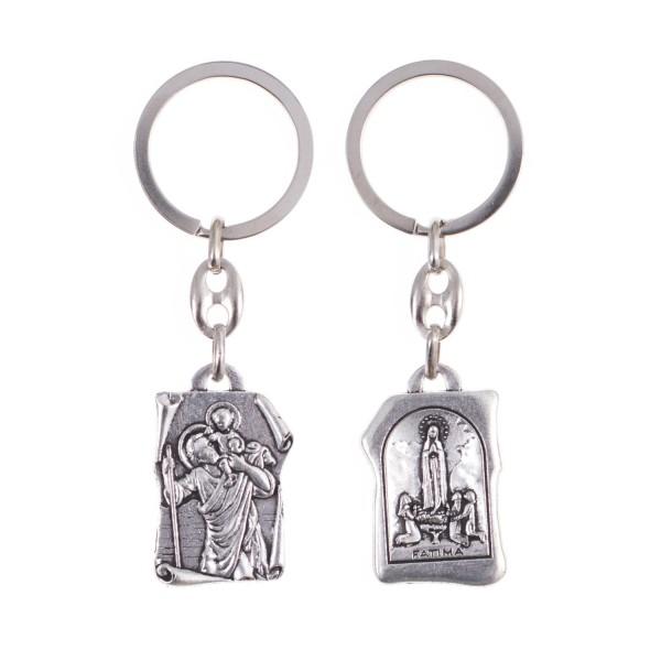 Atslēgu piekariņš Svētais Kristofers un Fatimas Dievmāte