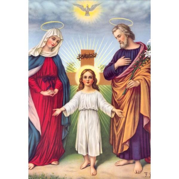 """Ledusskapja magnēts """"Svētā Ģimene"""" 6,5 x 9,5 cm"""