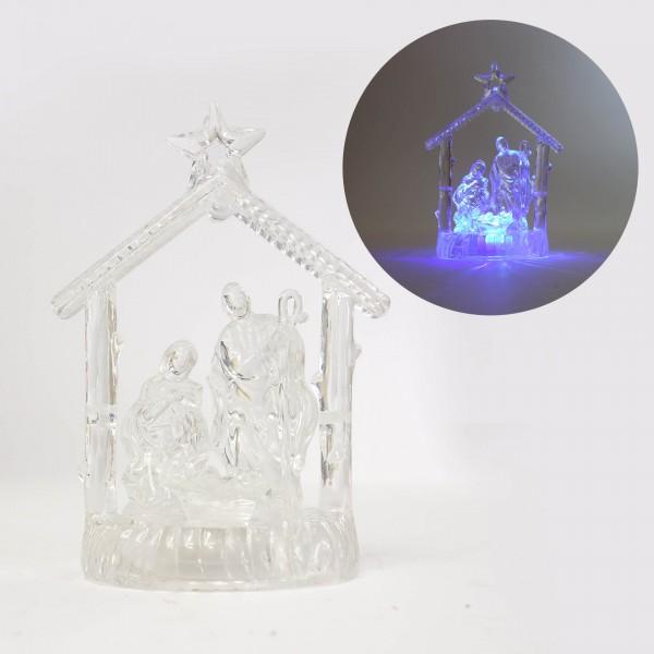 Betlēme ar gaismiņu 11 cm (dažādas krāsas)