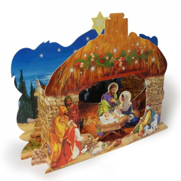 Betlēme uz kartona 3D