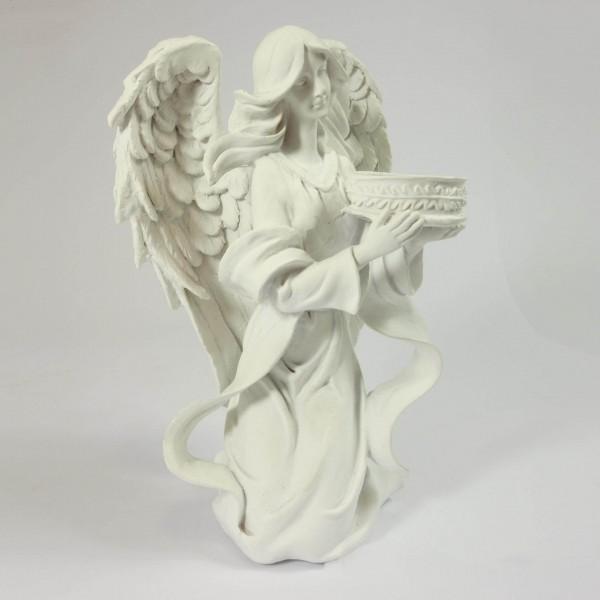 Eņģeļa figūra ar svečturi 23 cm