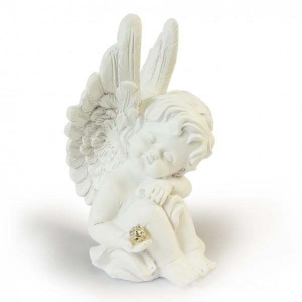 Figūra eņģelis ar kristāliņu 16 cm