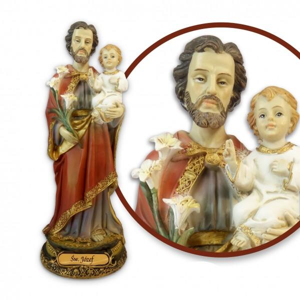 Figūra Svētais Jāzeps ar Jēzus Bērnu 21 cm