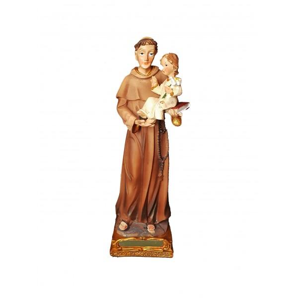 Figūra Svētais Antons ar Jēzus Bērnu 14 cm