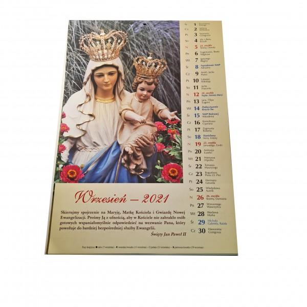 Katoļu sienas kalendārs 2021 (poļu valodā)