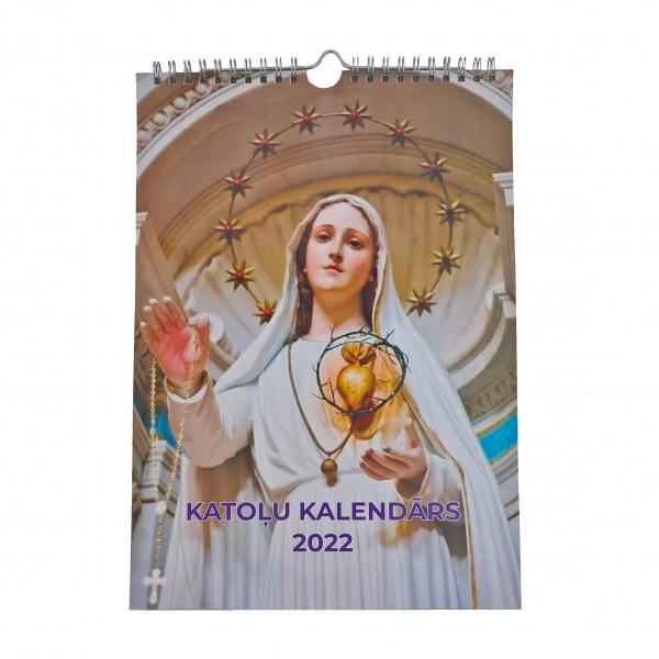 Katoļu sienas kalendārs 2022 (A4)