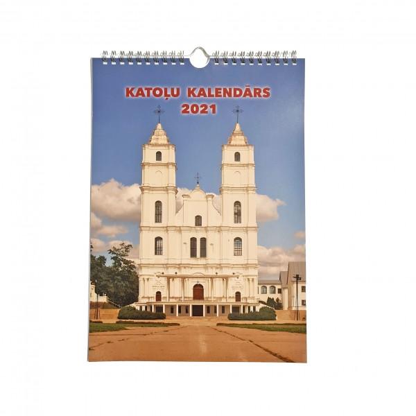 Katoļu sienas kalendārs 2021 (A4)