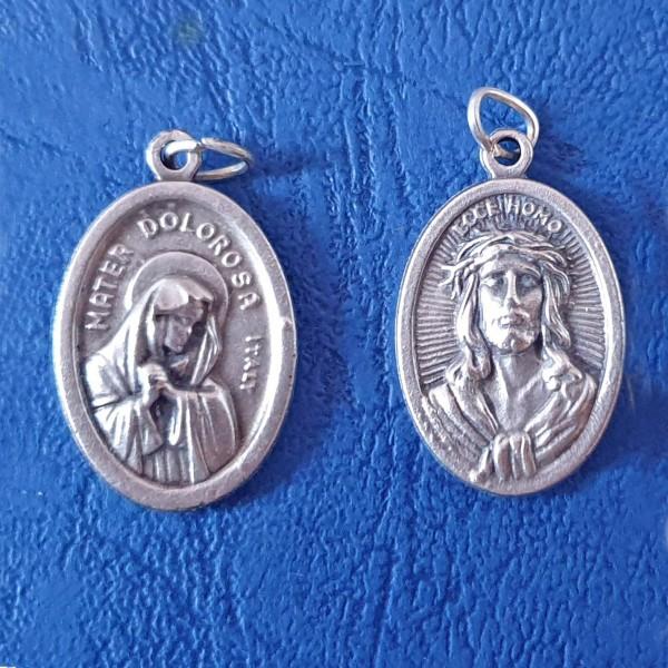 Medaljons Māte Dolorosa un ECCE HOMO 2,5 cm