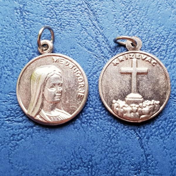 Dievmāte no Medžugorjes medaljons 1,5 cm