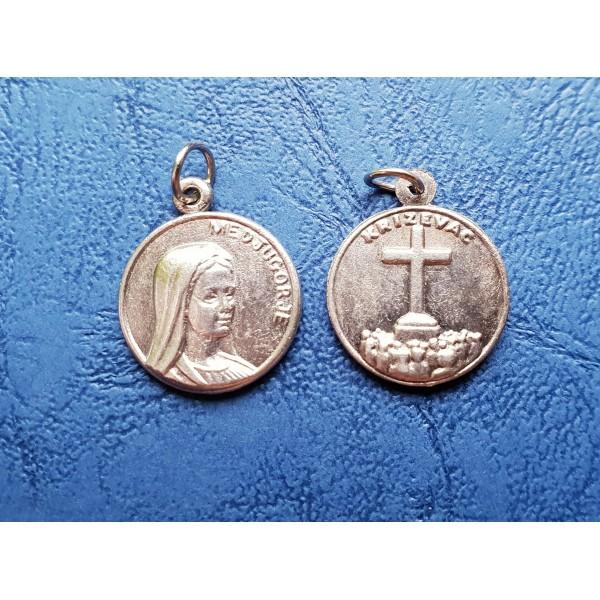 Dievmāte no Medžugorjes medaljons ar/ bez aukliņas