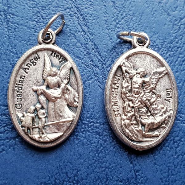 Sargeņģelis un Svētais Miķelis medaljons 2,5 cm