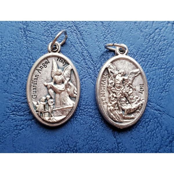Sargeņģelis un Svētais Miķelis medaljons ar/ bez aukliņas