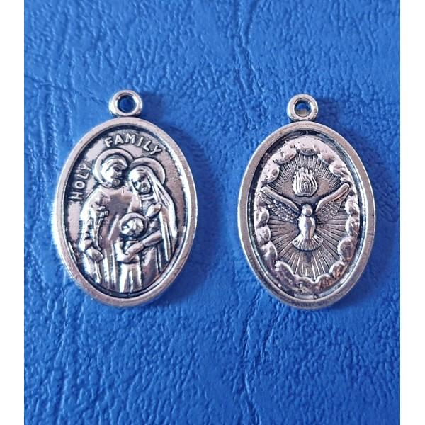 Svētā Ģimene un Svētais Gars - medaljons ar/bez aukliņas