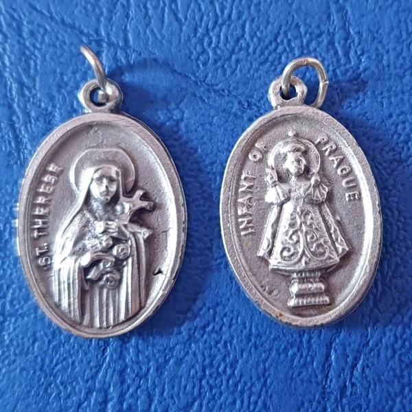 Svētā Terēze un Jēzus Prāgas bērns medaljons 2,5 cm