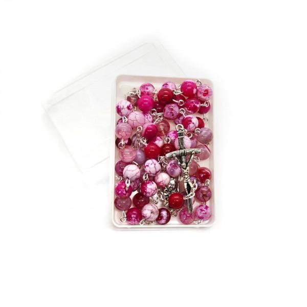 Akmens rožukronis no ahāta 8 mm