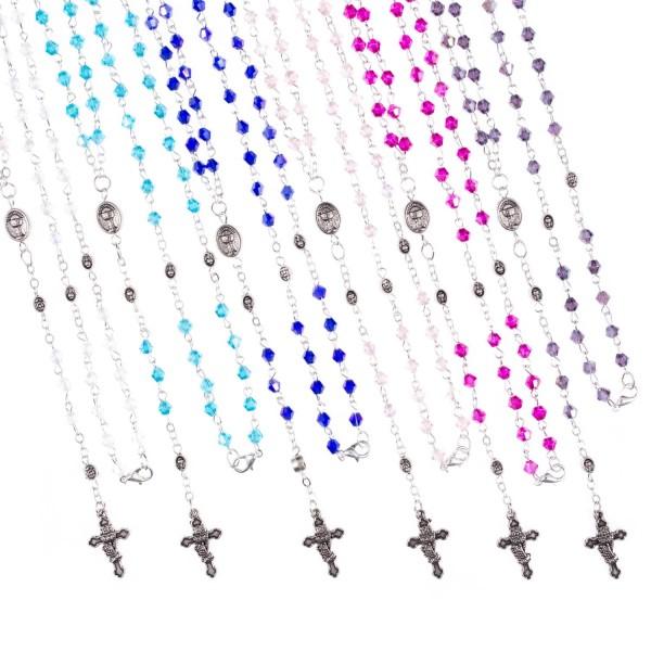 Iesvētīšanas kristāla rožukronis maisiņā (dažādas krāsas)
