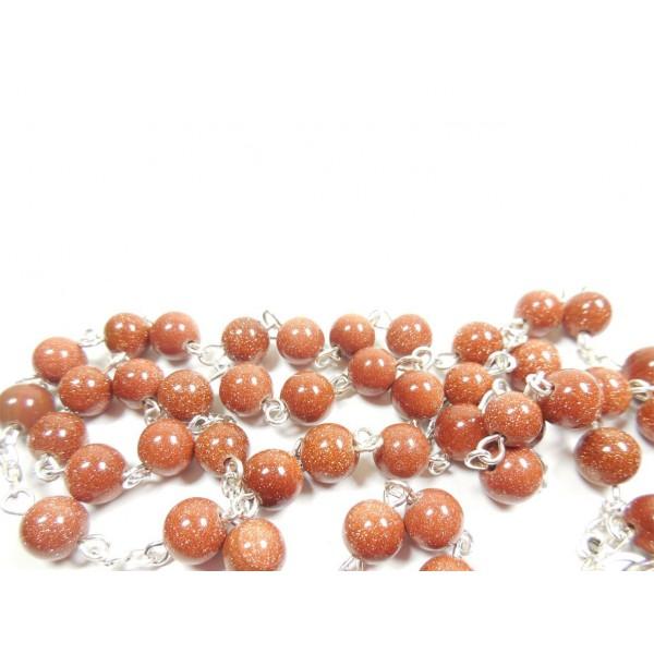 Akmens rožukronis avanturīns 7 mm