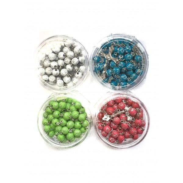 Rožukronis kastītē  6 mm (dažādas krāsas)