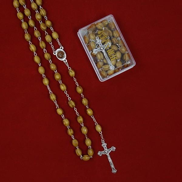 Rožukronis no olīvkoka ar svēto zemi kastītē