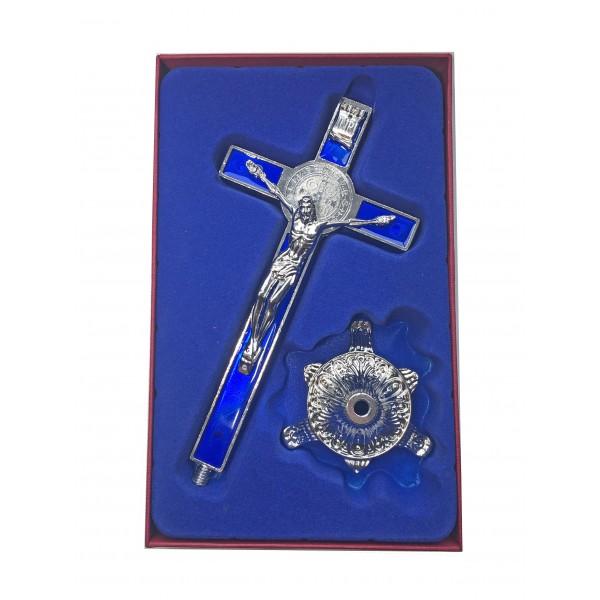 Galda krusts ar Svētā Benedikta medaljonu 21 cm