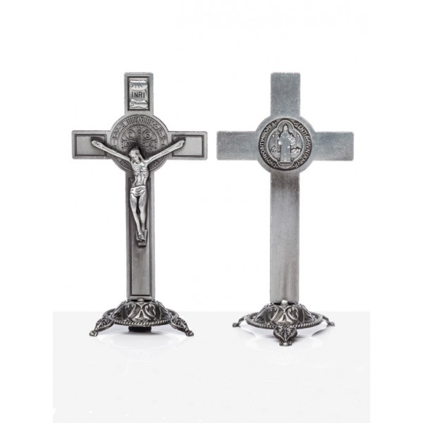 Galda krusts ar Svētā Benedikta medaljonu 13 cm
