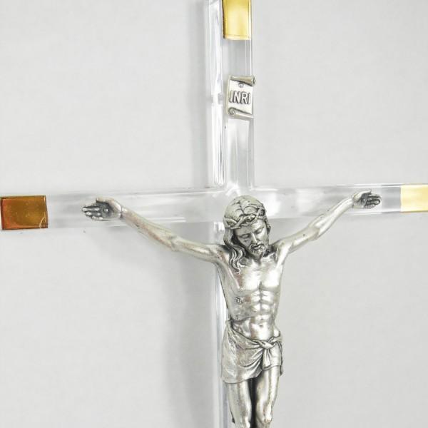 Sienas krusts no stikla 17 cm