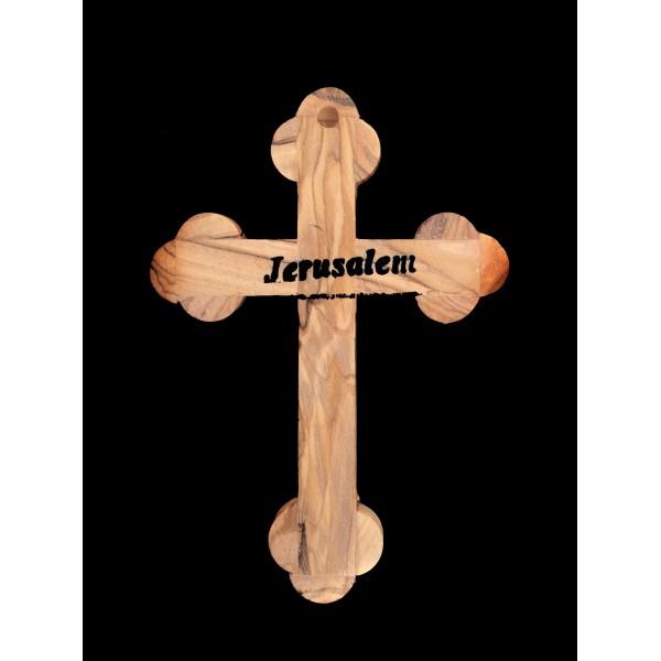 """Olīvkoka sienas krusts """"Jeruzaleme"""" 13 cm"""