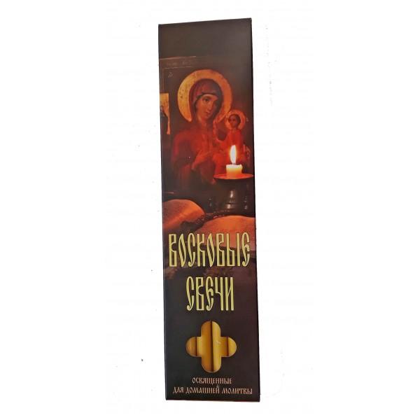 Bišu vaska baznīcas sveces kastītē (6 sveces)