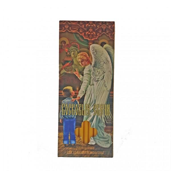 Bišu vaska baznīcas sveces kastītē (12 sveces)