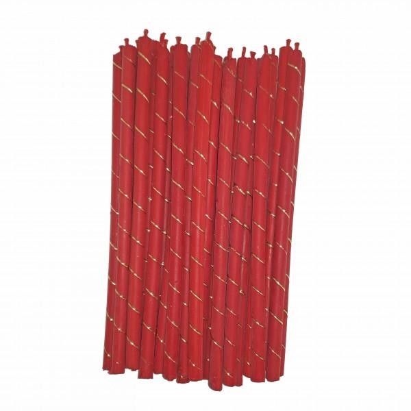Sarkana bišu vaska svece 23,5 cm