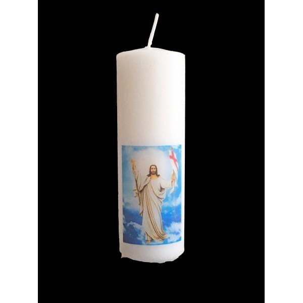 Svece cilindrs Kristus Augšāmcēlies! 12 cm