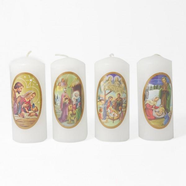 Ziemassvētku svece cilindrs 11 cm