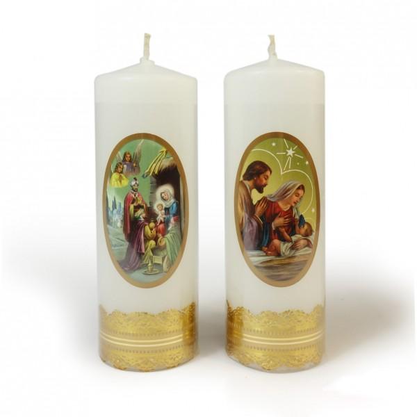 Ziemassvētku svece cilindrs 14 cm