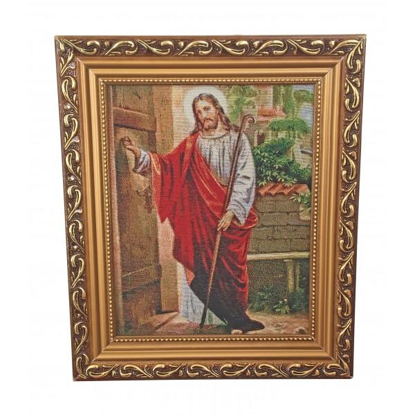"""Gobelēns """"Jēzus klauvē pie durvīm"""" 27 x 32 cm"""