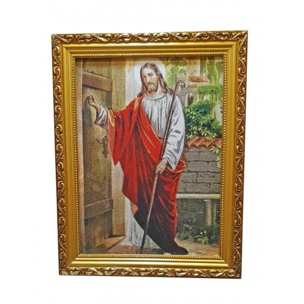 """Gobelēns """"Jēzus klauvē pie durvīm"""" 36 x 46 cm"""