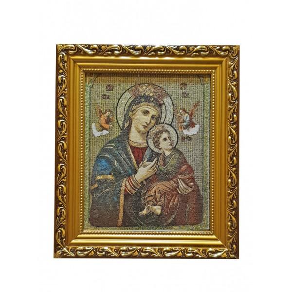 Gobelēns Nemitīgās Palīdzības Dievmāte 27 x 32 cm