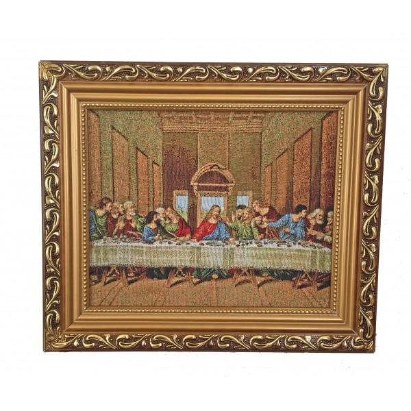 """Gobelēns """"Svētais vakarēdiens"""" 27 x 32 cm"""