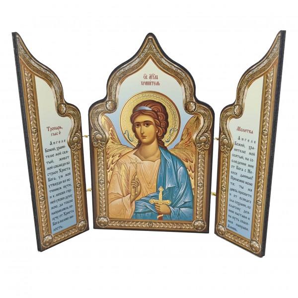 Saliekamā ikona Sargeņģelis ar lūgšanu
