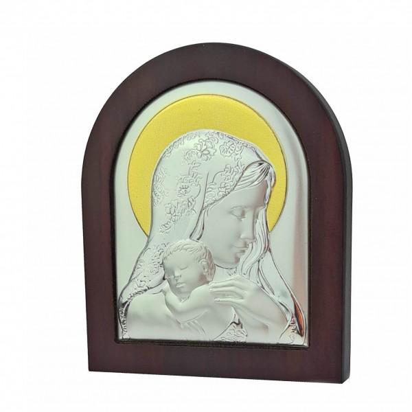 Sudraba ikona Dievmāte 11x13 cm