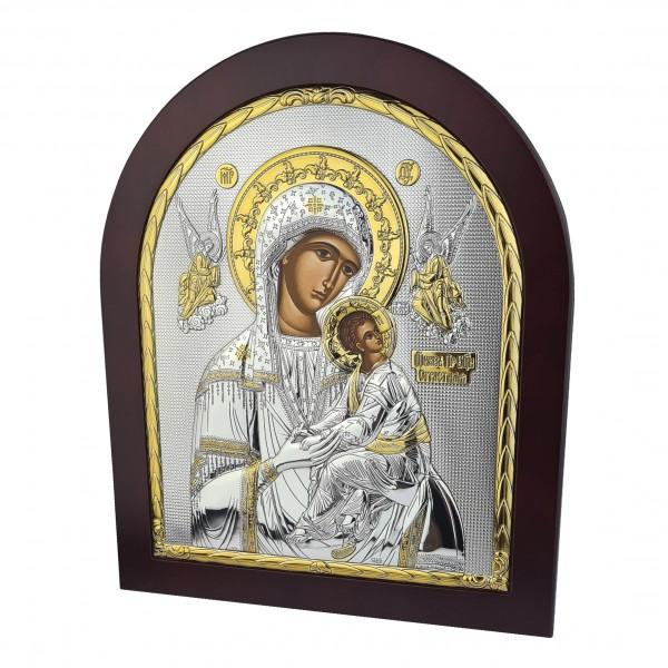 Sudraba ikona Nemitīgas Palīdzības Dievmāte 26 x 31 cm