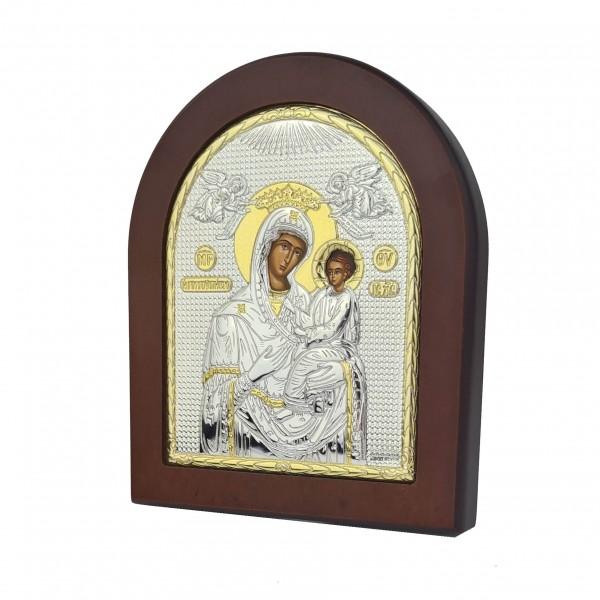 Sudraba ikona Nemitīgas Palīdzības Dievmāte 11x13 cm