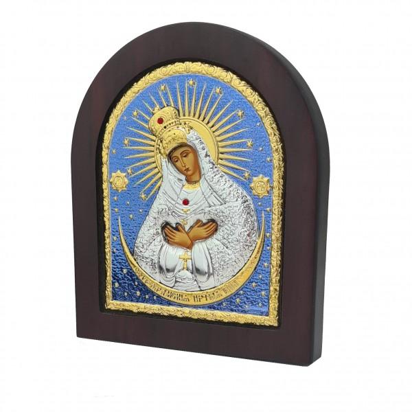 Sudraba ikona Ostrobramas Dievmāte 11 x 13 cm