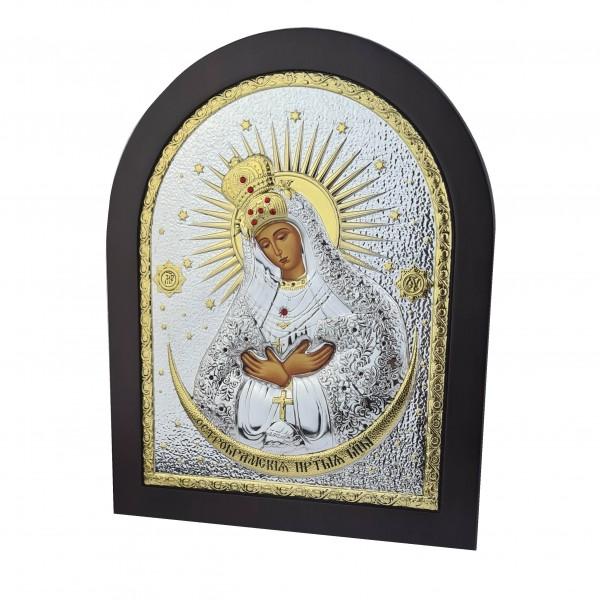Sudraba ikona Ostrobramas Dievmāte 198x247 mm