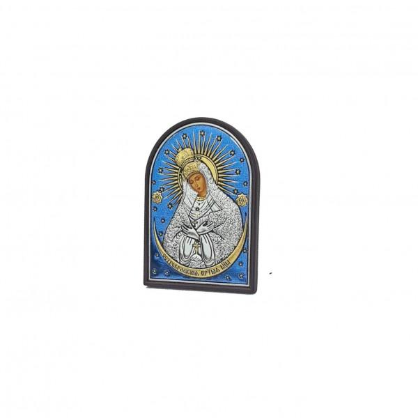 Sudraba ikona Ostrobramas Dievmāte 4 x 5.6 cm